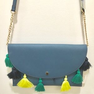 A New Day Tassel Flap Clutch- Magnetic Closure